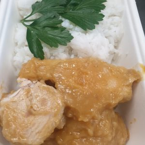 chicken apricot with rice